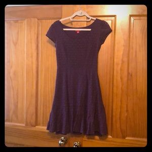 Fitted Dark Purple Lace Dress